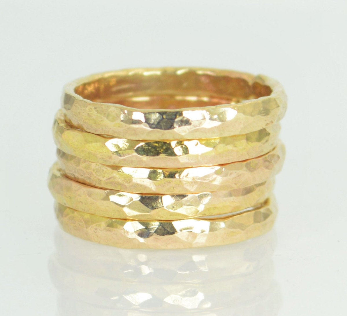 thick stackable 14k gold filled rings gold rings