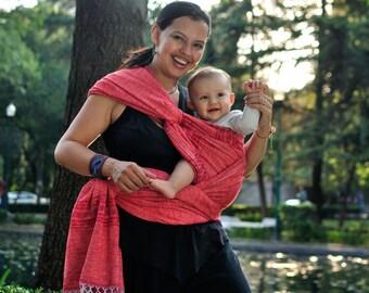 Baby Wrap  100% cotton & Handwoven! Seahorsebaby Red