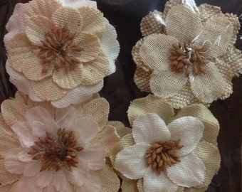 Prima Flowers, Jute-Jeweled