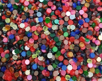 Resin mosaic tiles 5mm round, Glossy effect, Mix colours
