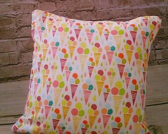 100 % ORGANIC cushion cover Fruity Ice Cream