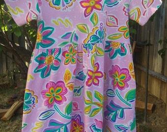 80's T-Shirt Flower Dress