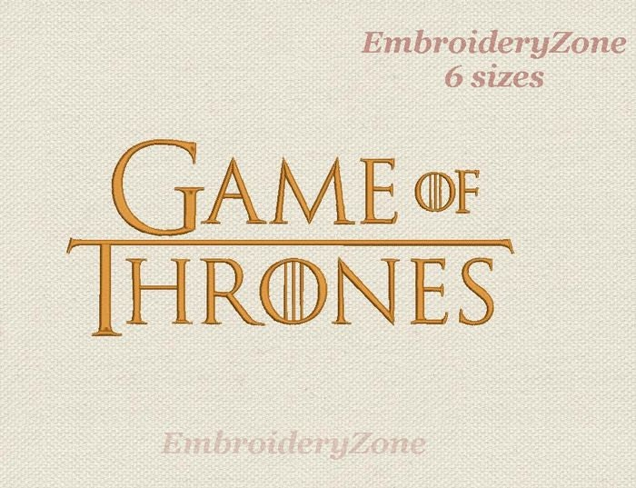 Logo game of thrones embroidery design sizes instant