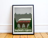 Hogwarts Express - Harry Potter - Travel Poster Style Art Print - (Available In Many Sizes)
