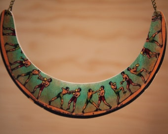 "Necklace of wooden ""boxing"""
