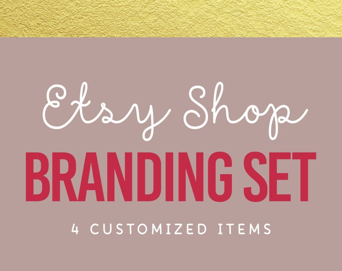 Etsy Shop Branding Set --- Etsy Shop Branding, Small Business, Business Card Design, Custom Logo and Graphics