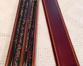 2 pair ( His and Hers ) Ornate Vintage Chopsticks with Decorative Box Chopstick Set