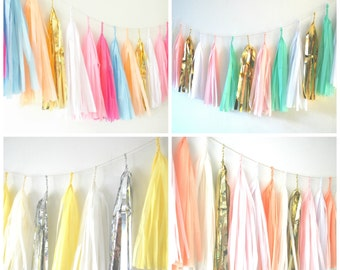 Design your own Tissue Tassel Garland