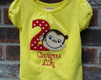 Curious George Birthday Shirt