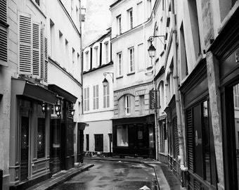 Paris black and white photography, Paris street, Paris photography, black and white photo, Paris architecture, Paris decor, fine art print