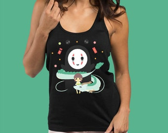 Spirited Away Tank Top - Women's Tank Top Spirited Away Gift For Her - Studio Ghibli Shirt Studio Ghibli Womens Shirt Studio Ghibli Gift