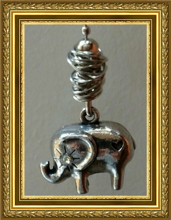 Elephant ceiling fan pull chain home decor silver chain Silver elephant home decor