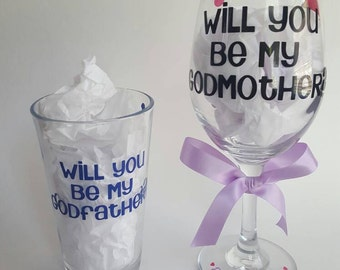 Godparents gift set, will you be my godmother, will you be my godfather, godparents goft, asking godparents, baptism gift, christening, baby