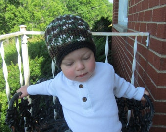 Camo Crochet Hat, Boys Hats