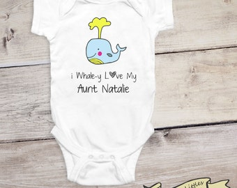Aunt uncle stylish littles i whaley love my aunt shirt whale personalized aunt gifts baby surprise reveal to aunt negle Choice Image