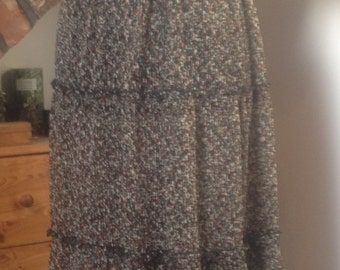 Hippie,Boho, festival Vintage, midi Dress, size 12-14 (uk)