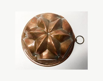 French Vintage Copper Mold Cake in Shape of a Star