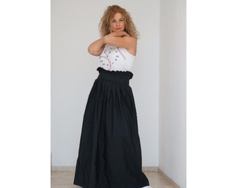 Floor Length Skirt, Boho Skirt, Black Skirt, Floor Length Skirt, Gothic Skirt, Maxi Skirt, Full Skirt, High Waist Skirt, Plus Size Skirt