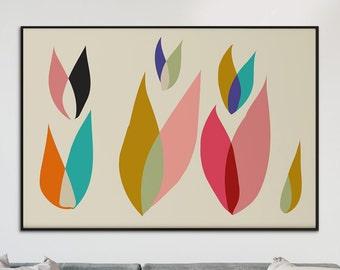 Large Printable Art, Mid Century Modern, Large Art, Huge Modern Art Print, Abstract Wall Art, Contemporary Art, Print at Any Size.
