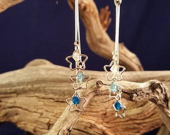 Swarovski Crystal and Star Earrings