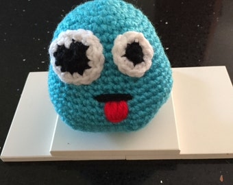emoticon toy, crochet emoticon, crochet emoji, emoji plushie, emoticon tongue, emoji toy, crochet toy emoji, gender neutral crochet toy