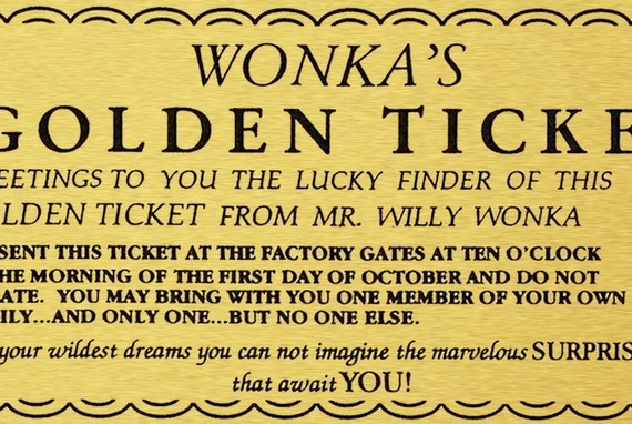 Insane image for willy wonka golden ticket printable