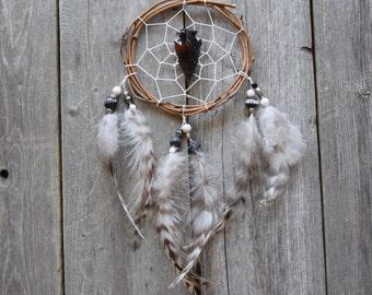 Car Dreamcatcher - Arrowhead - Obsidian - Black - Small Dream Catcher - Boho - Native American Inspired - Car Decor - Car Dream Catcher