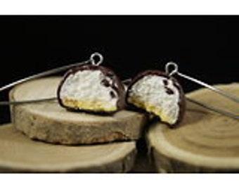 Earrings Mélo - Couleur-lavande polymer clay jewelry