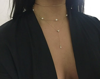 Thin Collar Necklace, Thin Collar Choker. Choker Necklace. Sterling Silver, 14K Gold Fill, 14K Rose Gold Fill.