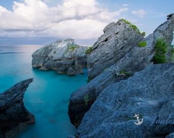 Limited Edition ~ Bermuda Landscape ~ Warwick Parish, Fine Art Canvas, Artwork, Tropical, Seascape, Abstract, Coastal, Fine Art Photography