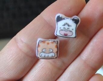 Hello Spank and Torakiki earrings