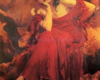 "Christopher Williams ""Goddess Ceridwen"" 1910  Reproduction Digital Print Celtic Goddess Rebirth Crone Pagan"
