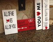 Valentines day signs - All of me loves all of you sign - God gave me you sign - Valentines day gifts - love signs - wedding signs