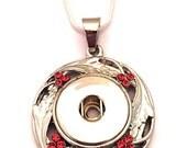 Snap Necklace on a Sterli...