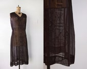 1920s Hungarian Dress / Vintage 1920s Dress / Embroidered Dress