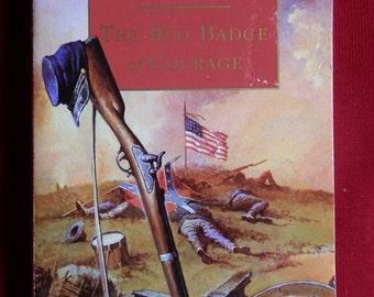 Vintage Paperback Book: The Red Badge of Courage by Stephen Crane Puffin Classics 1994