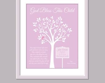 Baptism Gift Girl - Girl Baptism Gift - Baptism Print - Baby Girl Christening Gift - Baby Girl Baptism Gift - Baptism Keepsake -
