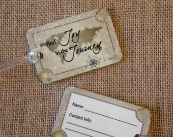 Travel Themed Luggage Tags, Luggage Tags,  Celebrating you Travel Box Luggage tags