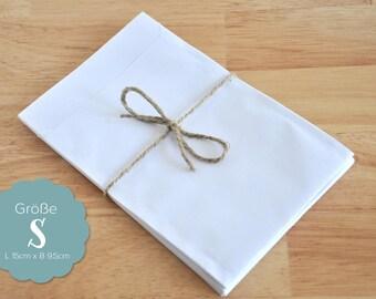 S - 9.5 x 15 cm white 20 paper bags