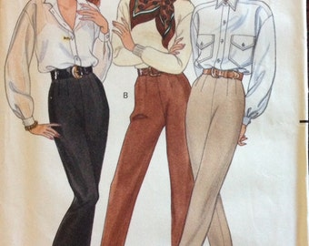 Butterick 4481 - Dart Fitted Pants with Tapered Leg and Optional Stirrup - Size 6 8 10