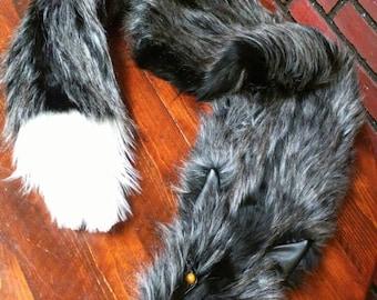 "Faux  fur ""fox"" pelt, collar for the cloak, coat collar, fur pelt for medieval fantasy costume, Game Of Thrones Sansa costume, GOT cosplay"
