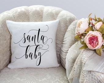 Santa Baby, Christmas Decorations, Holiday Decor, Vintage Christmas, Throw Pillows, Christmas Pillow, Handmade Christmas, Santa Claus