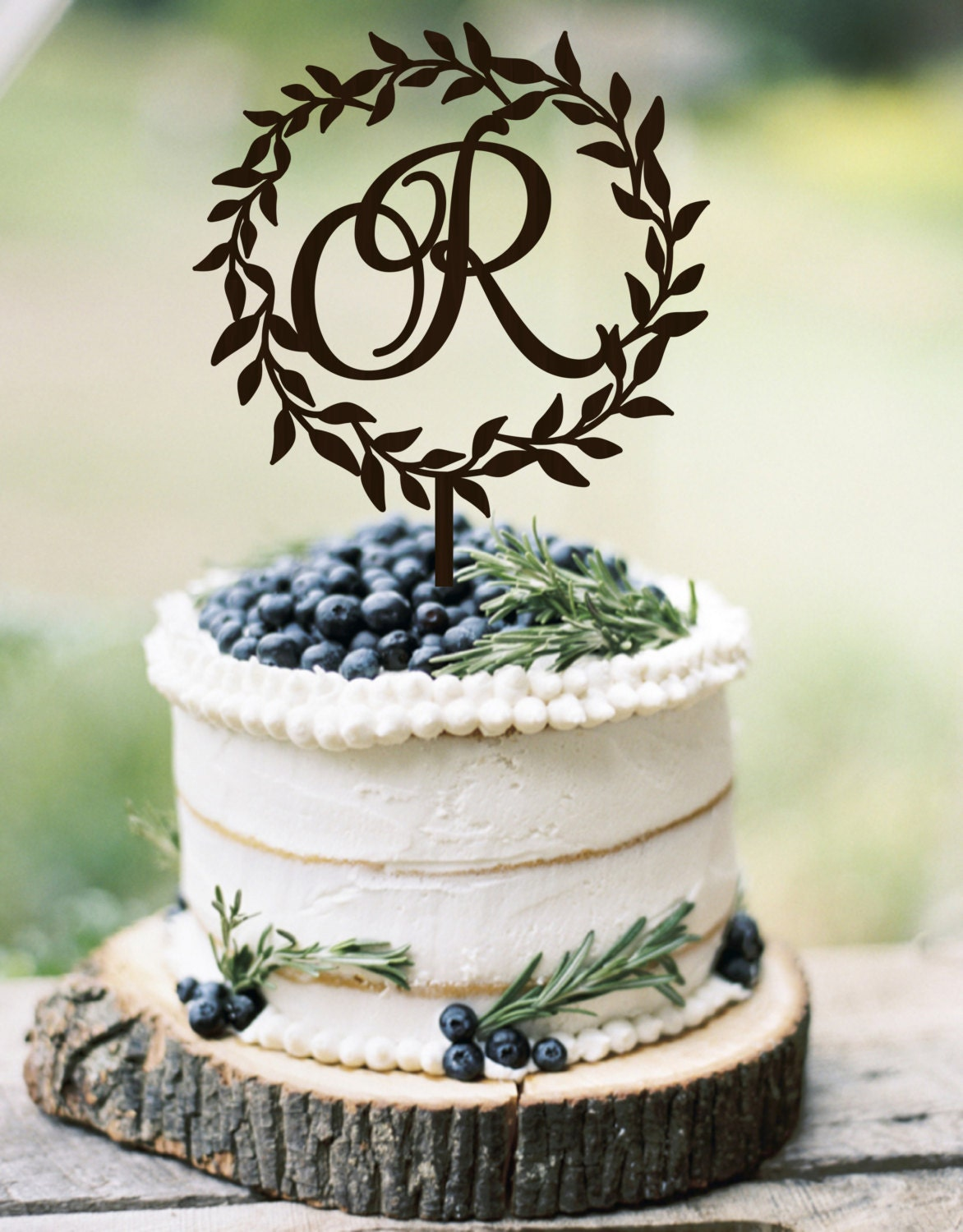 initial cake toppers wedding cake topper wreath monogram rustic cake topper 5155