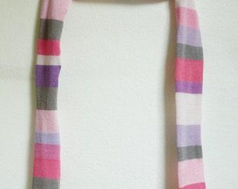 shrug, sleeves knitted strips ,slim fitting