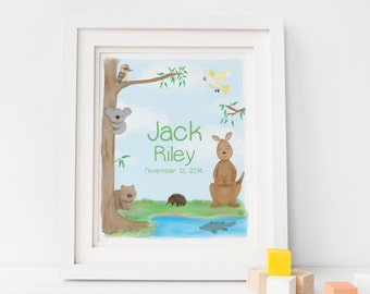 Baby art etsy personalised name print australian art baby artwork baby art prints neutral baby negle Image collections