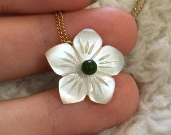 14kgf Stone Flower Necklace