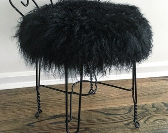 Unique Fur Stool Related Items Etsy