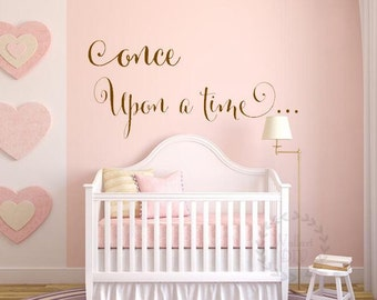 Once Upon A Time Quote Wall Sticker Nursery Wall Decals Nursery Quote Wall  Sticker Quote Wall Part 93