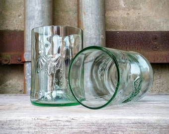 Bacardi Rum Recycled Drinking Glasses - Set of Two