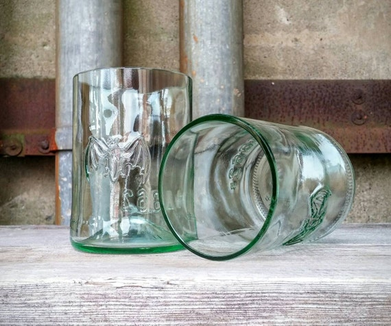 how to make drinking glasses out of liquor bottles